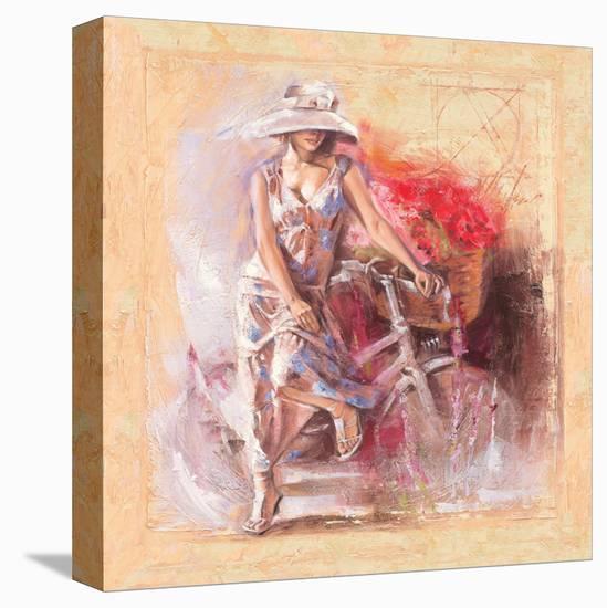 A Basket Full of Flower-Talantbek Chekirov-Stretched Canvas Print