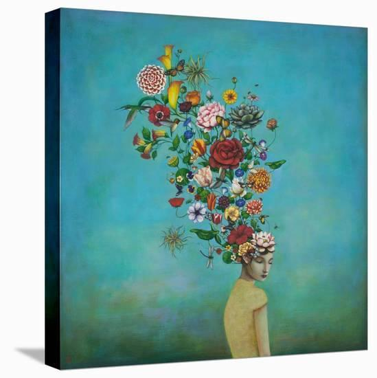A Mindful Garden-Duy Huynh-Stretched Canvas Print
