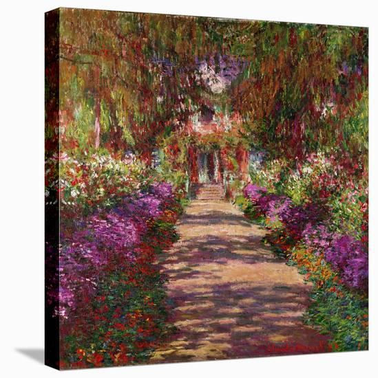 A Pathway in Monet's Garden, Giverny, 1902-Claude Monet-Stretched Canvas Print