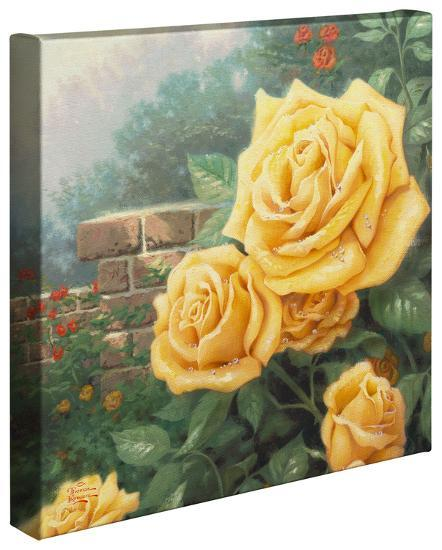 A Perfect Yellow Rose-Thomas Kinkade-Gallery Wrapped Canvas