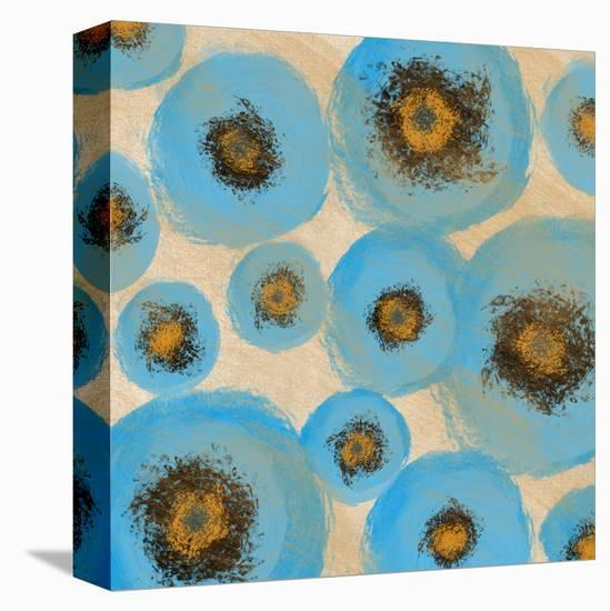 Abstract Blue swhirls-Yashna-Stretched Canvas Print