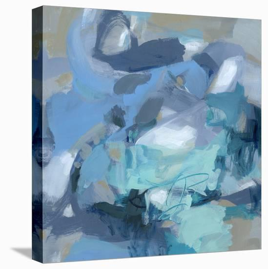 Abstract Blues I-Christina Long-Stretched Canvas Print