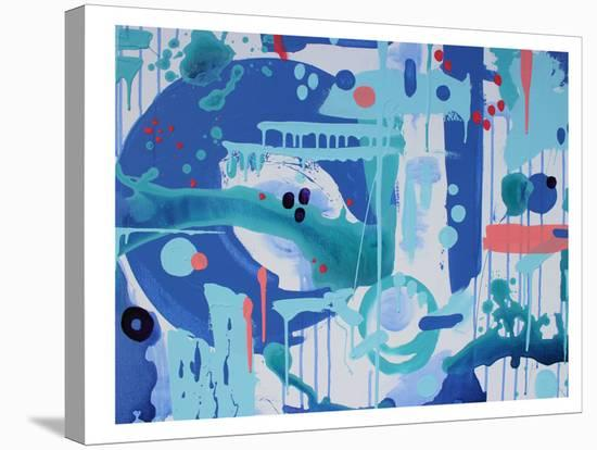 Abstract Marble-Deb McNaughton-Stretched Canvas Print
