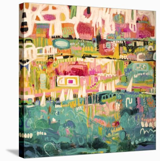 Abstract Marina II-Karen  Fields-Stretched Canvas Print