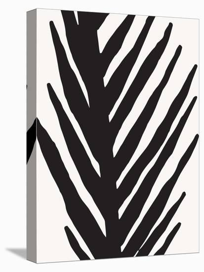 Abstract Minimal Palm--Stretched Canvas Print