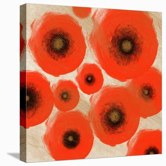 Abstract Red swhirls-Yashna-Stretched Canvas Print