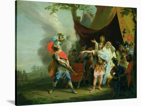 Achilles Has a Dispute with Agamemnon, 1776-Johann Heinrich Tischbein-Stretched Canvas Print