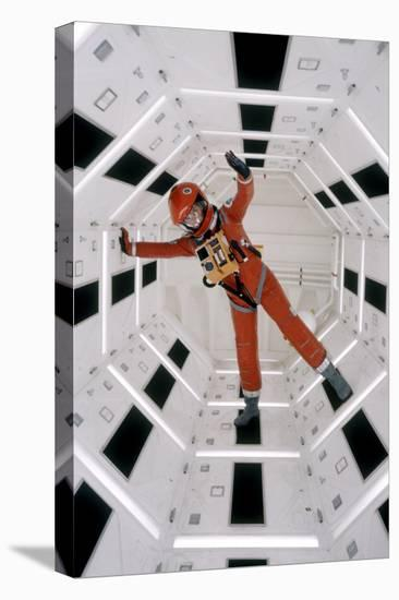 """Actor Keir Dullea Wearing Space Suit in Scene from Motion Picture """"2001: a Space Odyssey"""", 1968-Dmitri Kessel-Stretched Canvas Print"""