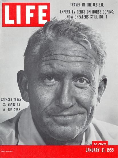 Actor Spencer Tracy, January 31, 1955-J. R. Eyerman-Stretched Canvas