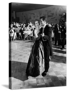 Actress Joanne Woodward Dances with Paul Newman at the 1st Governor's Ball, Beverly Hilton Hotel-J. R. Eyerman-Premier Image Canvas