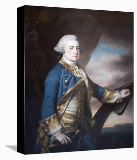 Admiral Harry Paulet-Francis Cotes-Stretched Canvas Print