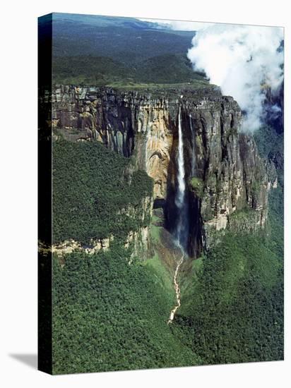 Aerial of Angel Falls-Carl Mydans-Stretched Canvas Print