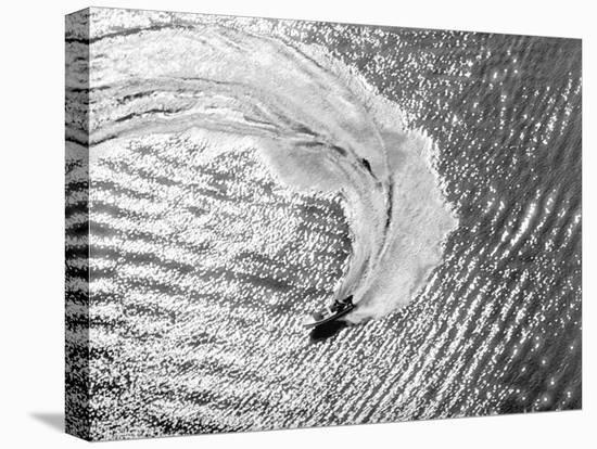 Aerial of Waterskier. Long Beach, California 1951-Margaret Bourke-White-Stretched Canvas Print