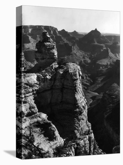 Aerial View of Rock Formation in the Grand Canyon-Margaret Bourke-White-Stretched Canvas Print
