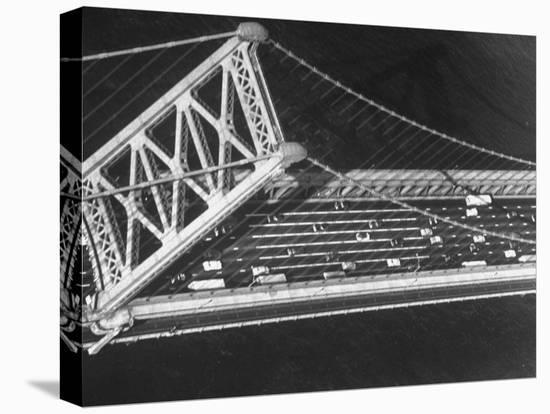 Aerial View of Traffic on the Whitestone Bridge-Margaret Bourke-White-Stretched Canvas Print