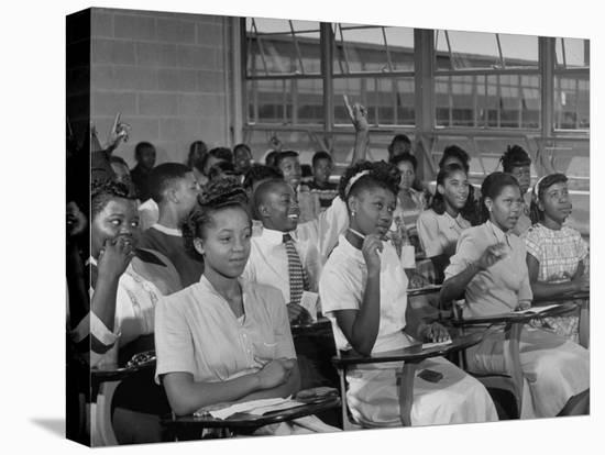 African-American Students in Class at Brand New George Washington Carver High School-Margaret Bourke-White-Stretched Canvas Print