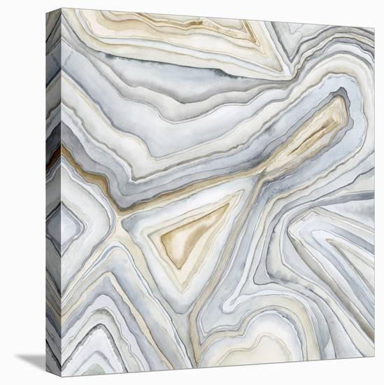 Agate Abstract I-Megan Meagher-Stretched Canvas Print