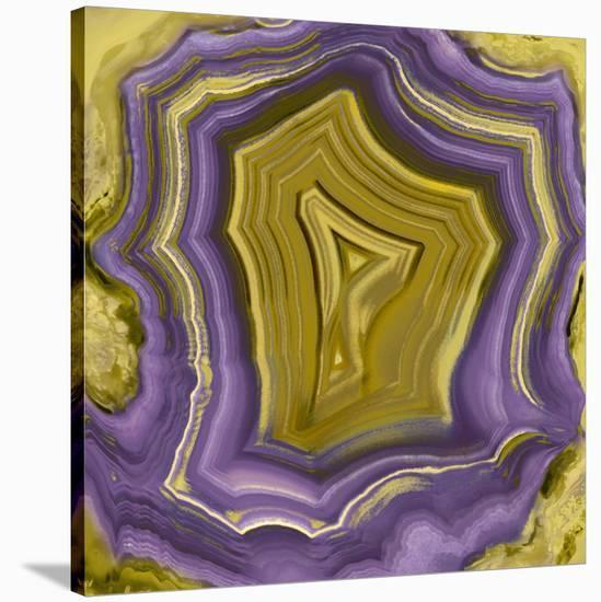 Agate in Purple & Gold I-Danielle Carson-Stretched Canvas Print