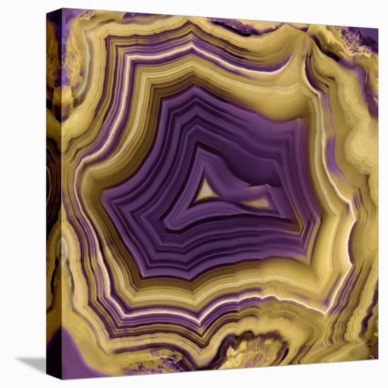 Agate in Purple & Gold II-Danielle Carson-Stretched Canvas Print