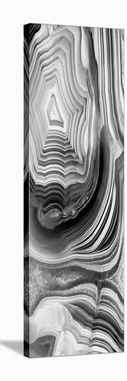 Agate Panel Grey I-Danielle Carson-Stretched Canvas Print