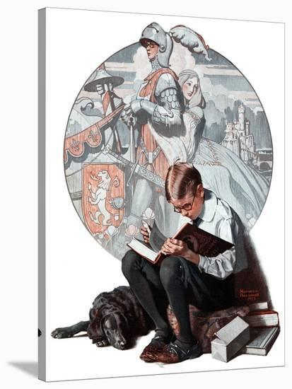 """""""Age of Romance"""", November 10,1923-Norman Rockwell-Stretched Canvas Print"""