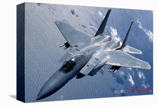 Airplane F-15 Eagle--Stretched Canvas Print