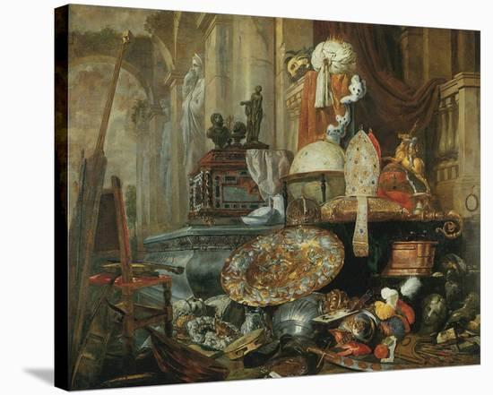 Allegory of Vanities of the World-Pieter Boel-Stretched Canvas Print