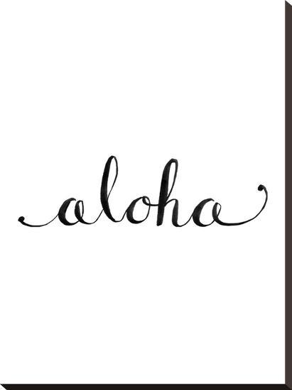 Aloha-Jetty Printables-Stretched Canvas Print