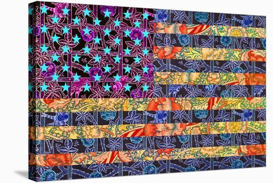 America Quilt--Stretched Canvas Print