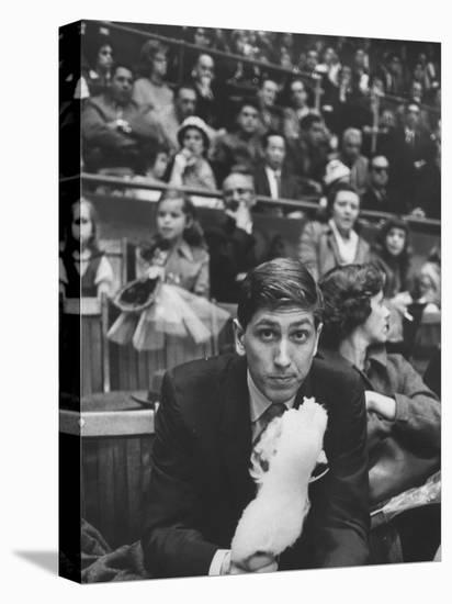 American Chess Champion Robert J. Fischer Eating Cotton Candy-Carl Mydans-Stretched Canvas Print