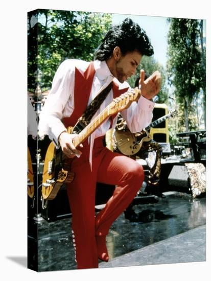 American Singer Prince (Prince Rogers Nelson) in the 80'S--Stretched Canvas Print