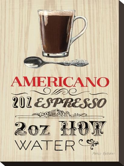 Americano Expresso-Marco Fabiano-Stretched Canvas Print