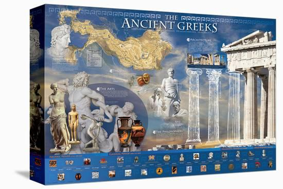 Ancient Greek--Stretched Canvas Print