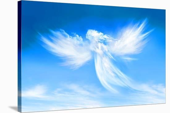 Angel In The Clouds--Stretched Canvas Print