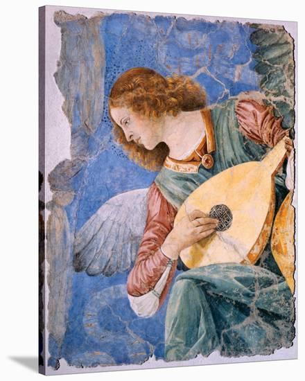 Angelo Musicante-Melozzo da Forlí-Stretched Canvas Print