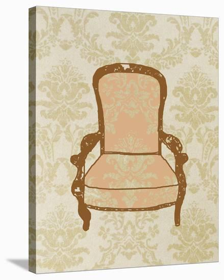 Antique Chair I-Irena Orlov-Stretched Canvas Print