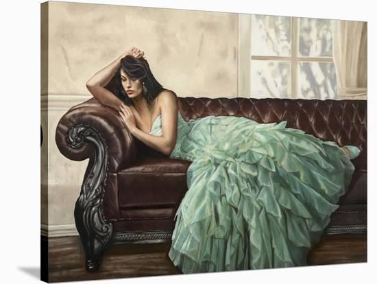 Aquamarine Beauty-Emilio Ciccone-Stretched Canvas Print