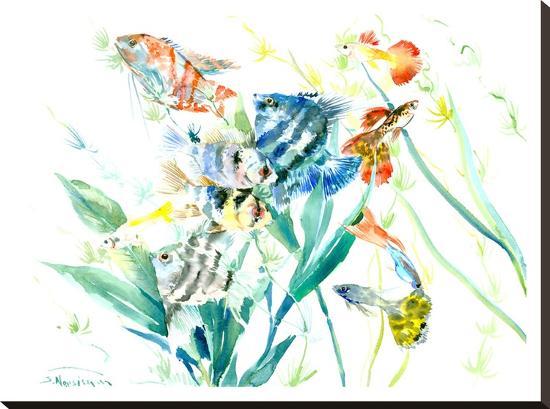Aquarium-Suren Nersisyan-Stretched Canvas Print