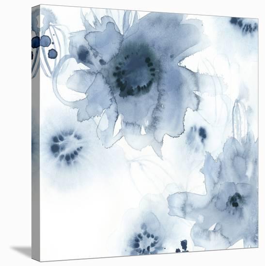 Aquatic Indigo I-June Vess-Stretched Canvas Print