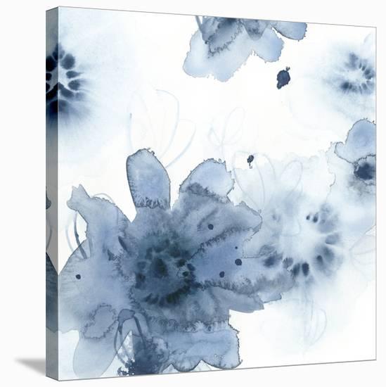 Aquatic Indigo II-June Vess-Stretched Canvas Print