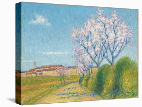 Arbes en Fleurs a l'Entree de Cailhavel, 1928-Achille Lauge-Stretched Canvas Print