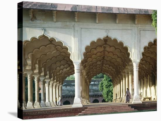 Arches, the Red Fort, Agra, Unesco World Heritage Site, Uttar Pradesh State, India, Asia-Occidor Ltd-Stretched Canvas Print
