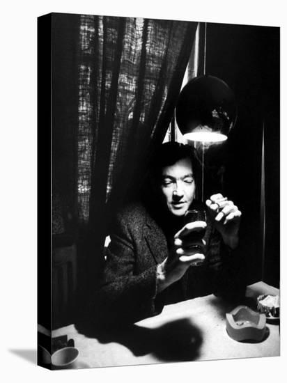 Argentine Author Julio Cortazar-Pierre Boulat-Stretched Canvas Print