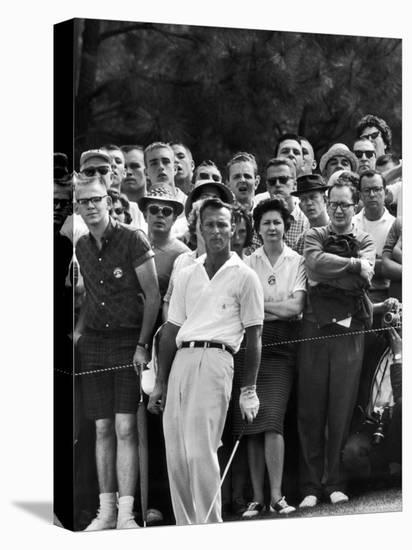 Arnold Palmer After Winning the Masters Tournament-George Silk-Stretched Canvas Print