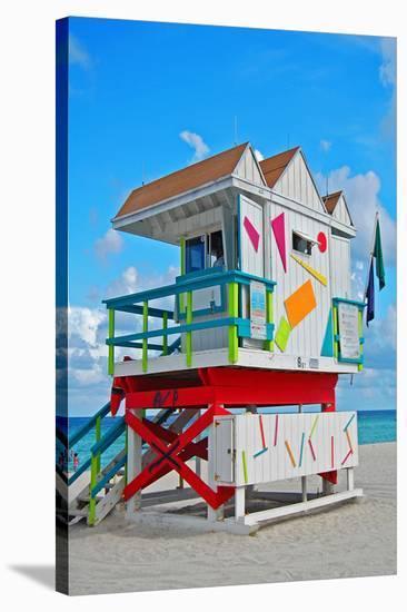Art Deco Lifeguard Hut Florida--Stretched Canvas Print