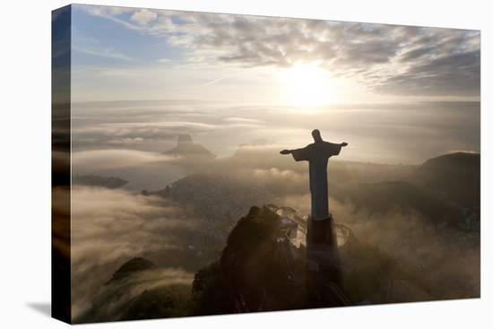 Art Deco Statue of Jesus,On Corcovado Mountain, Rio de Janeiro, Brazil-Peter Adams-Premier Image Canvas