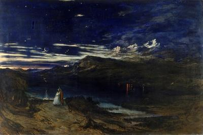 Arthur and Aegle in the Happy Valley, 1849-John Martin-Stretched Canvas Print
