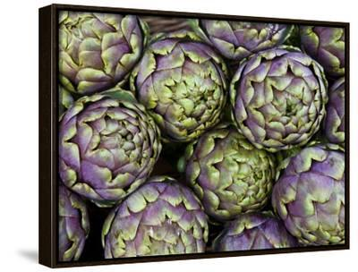 Artichokes for Sale at Market at Campo De' Fiori-Richard l'Anson-Framed Canvas Print