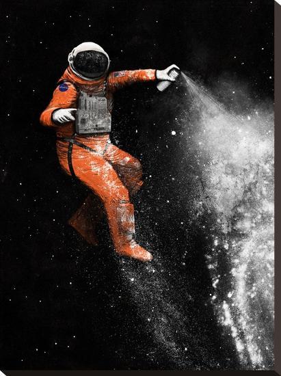 Astronaut-Florent Bodart-Stretched Canvas Print