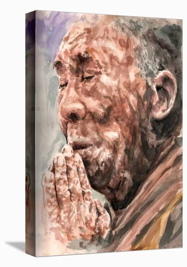 At Prayer-Clark North-Stretched Canvas Print